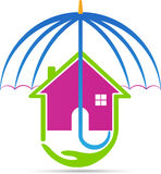 Home insurance. A vector drawing represents home insurance design Royalty Free Stock Images