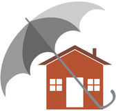 Home insurance. Vector illustration of home insurance Royalty Free Stock Photography