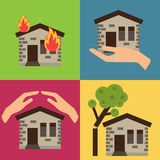 Home insurance vector illustration Stock Photos