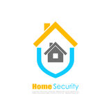 Home insurance vector logo Royalty Free Stock Images