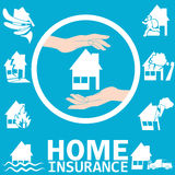 Home insurance. In vector style Stock Images