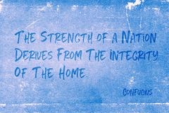 Home integrity Confucius Royalty Free Stock Photography