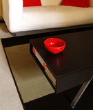 Home interior. Red mug and design interior Royalty Free Stock Image