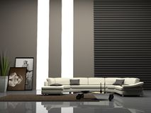 Home interior 3D. Modern home interior 3D rendering vector illustration