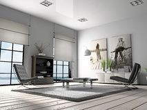 Home interior 3D rendering royalty free stock photos