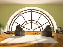 Home interior 3D rendering vector illustration
