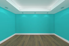 Home interior 3D rendering with empty room stock photography