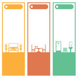Home interior banners Stock Images