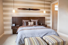 Home Interior: Bedroom Stock Photography