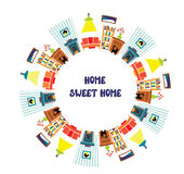 Home interior card with frame for the text Stock Photos