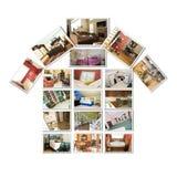 Home Interior Collage stock photo