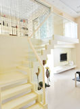 Home interior comfortable. Modern comfortable interior with featuring stairs Royalty Free Stock Photo