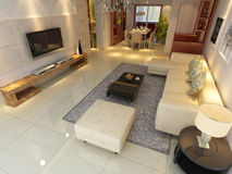Home interior 3d rendering Stock Photos