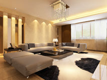 Home interior 3d rendering Royalty Free Stock Image