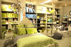 Home interior decoration. In Lime green colors Stock Photo