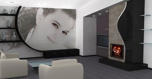 Home interior design royalty free stock image
