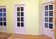 Home interior with doors. Home interior with white doors Royalty Free Stock Images