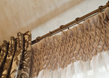 Home Interior: Drapes Stock Image
