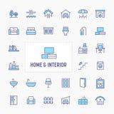 Home, Interior & Furniture Icon Set stock photos