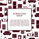 Home interior furniture vector background. Royalty Free Stock Photography