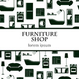 Home interior furniture vector background. Royalty Free Stock Images