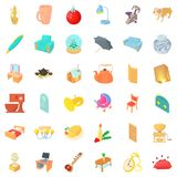 Home interior icons set, cartoon style. Home interior icons set. Cartoon style of 36 home interior vector icons for web isolated on white background Royalty Free Stock Images