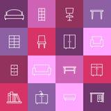 Home interior icons Stock Photos