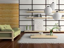 Home interior in japanese style Royalty Free Stock Image