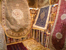 Home Interior Luxury Carpets. On Display Hand Made Luxury Carpets Stock Photography