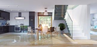 home interior modern ελεύθερη απεικόνιση δικαιώματος