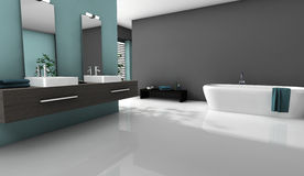 Bathroom Home Design royalty free illustration