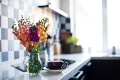 Home interior of modern kitchen Stock Photo