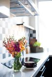 Home interior of modern kitchen Stock Photos