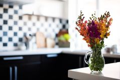 Home interior of modern kitchen Stock Photography