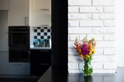 Home interior of modern kitchen Royalty Free Stock Photo