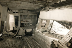 Home interior after natural disaster Stock Images