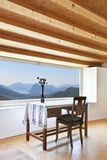 Home interior, picture window Royalty Free Stock Images