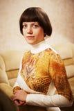 home interior portrait woman Στοκ Εικόνα