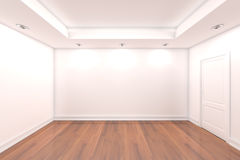 Home interior rendering with empty room Stock Image