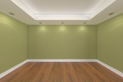 Home interior rendering with empty room Stock Photography