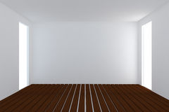 Home interior rendering with empty room Stock Images