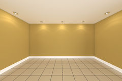Home interior rendering with empty room color wall Royalty Free Stock Photo