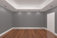 Home interior rendering with empty room color wall stock photography