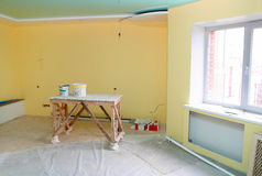 Home interior renovation Stock Image