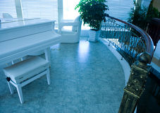 Home interior room with piano Royalty Free Stock Image