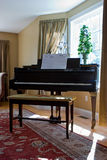 Home Interior Room With Piano Stock Photography