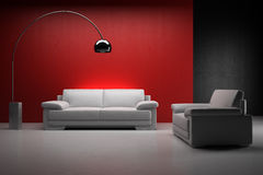 Home interior with sofa Royalty Free Stock Images