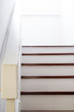 Home interior, stair to second floor, focus on handrail Stock Photography