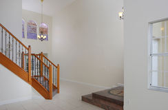 Home interior with a staircase Stock Photography