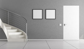 Home interior with staircase Stock Photo